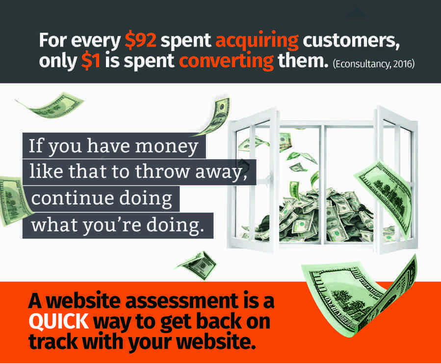 KLA Web Designs Website Assessment Flyer